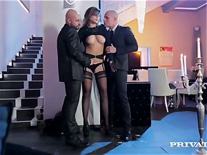 perky orb Anna Polina Gets Some rough double penetration