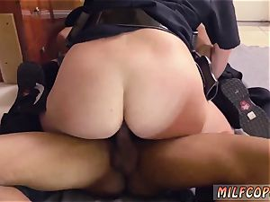 Russian cougar ass-fuck and ash-blonde first-timer mayo pie black male squatting in home gets our