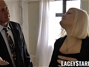 LACEYSTARR - Mature English honey penetrated and facialized