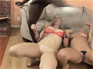 Charley chase and Adrianna Nicole engulfs this humungous spunk-pump
