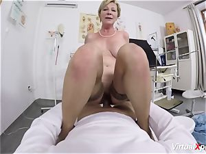 big-chested granny gets pov poked by her doctor