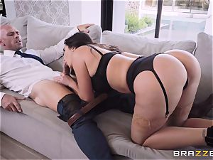 Deep in the shaggy pussy of brunette Karlee Grey