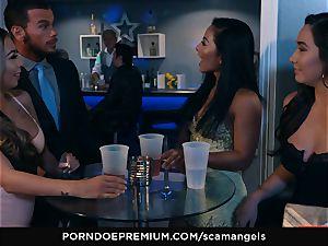 SCAM ANGELS - Kat Dior and Morgan Lee super-hot 3some