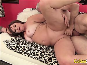 obese and Mature Isabelle enjoy Gets Her gash ate and smashed