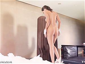 nasty minx Marga Cifuentes taking a foam bath