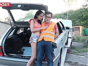 LETSDOEIT - teenager boinks older dude For Free Car Repair