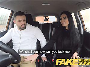 fake Driving college Jasmine Jae completely bare romp in car