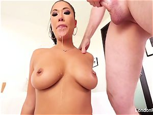marvelous japanese London Keyes knows how to blow man sausage
