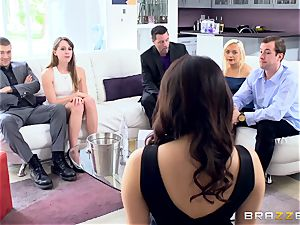 naughty brown-haired Valentina Nappi double humped nut deep