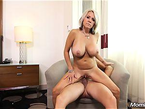 huge bra-stuffers milf gets anal ravage and facial