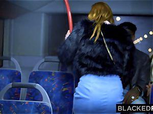 BLACKEDRAW two bombshells boink hefty big black cock On Bus!