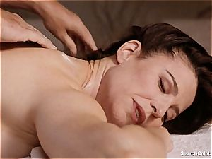 spectacular Mimi Rogers gets her entire body pawed