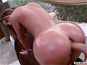 Jada Stevens getting greased up and deeply dicked