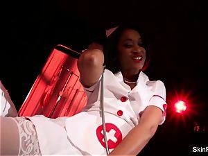 supah super-hot nurse skin Diamond gives a super-sexy taunt