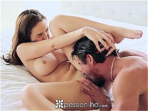 Passion-HD - Dillion Harper frigs her bald poon