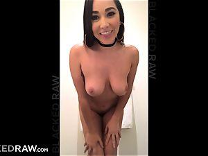 BLACKEDRAW Latina wifey splashes with 12 inch monster ebony stiffy