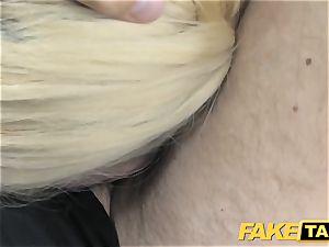 faux taxi platinum-blonde enjoys aged folks in backseat of cab