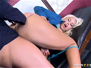 Bridgette B gets more than just being stuck in the lift