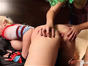 Whorley Quinn Leya gets plumbed stiff by She Joker Nadia