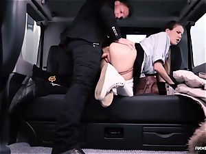 porked IN TRAFFIC college nymph gets pulverized by driver
