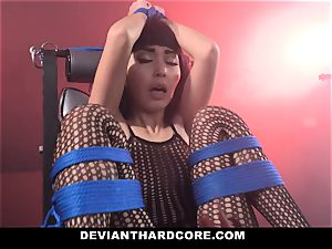 DeviantHardcore wild japanese Gets cock-squeezing cooch whipping