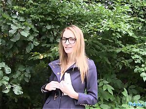 Public Agent Belle Claire has the hottest boobies