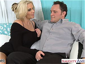 super hot wife Phoenix Marie gets pink vag nailed