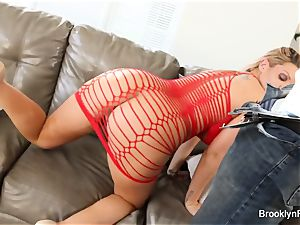Brooklyn takes a big black cock on the bed