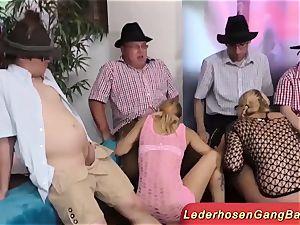 incredible German lederhosen party fuck-fest
