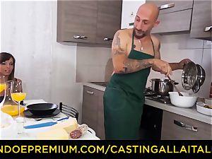 audition ALLA ITALIANA - red-hot Italian minx gets deep buttfuck