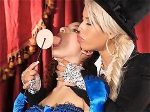 Bridgette B puts super-steamy assistant Lana Lovelace through her paces