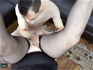 AgedLovE Lacey Starr pulverizing Poolboy hardcore