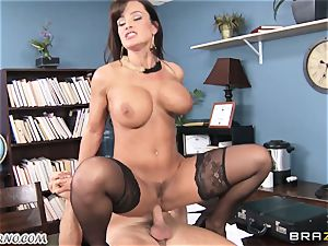 gigantic jug assistant Lisa Ann takes chief's trunk in the office