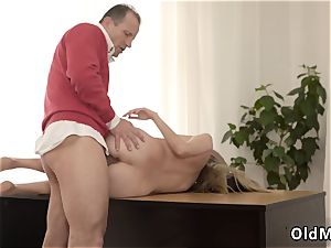 unshaved pecs elderly dude Stranger in a giant mansion knows how to molten you up