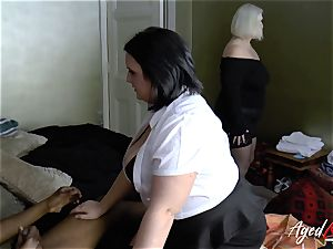 AgedLovE big-chested motel Maid Lacey Starr 3some