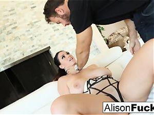 Alison takes on a phat bone