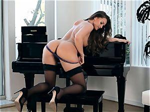 spectacular Tori dark-hued jacks on a piano