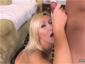 fresh blonde mummy gets buttfuck pov