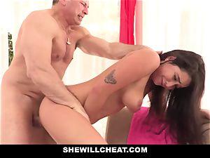 SheWillCheat cuckold gf Karlee Grey screws Trainer