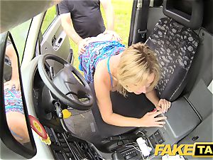 fake taxi Mum with natural milk cans gets humungous brit spear
