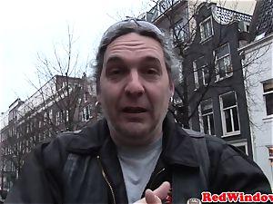 Doggystyled amsterdam escort romps tourist