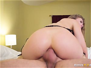 slipping manmeat and cum down the backside of Lena Paul