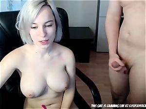 The blondie little bi-atch sucking...