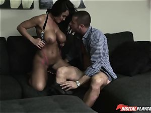 wondrous ample titty milf Lisa Ann gets her wooly cooch fucked by her daughter's beau
