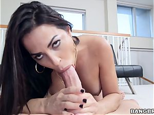 Julianna Vega feasting on a ample bone