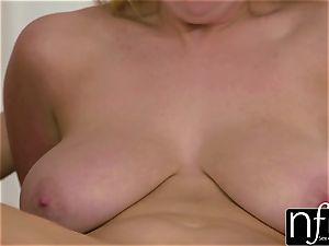 NF huge-chested - Alison Tyler Shares massive funbag BFF