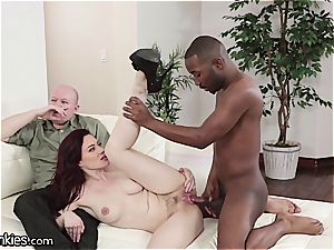 fuck-stick depraved Jessica cuckolds her hubby with a bbc