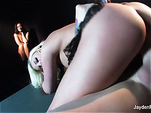 Jayden Jaymes watches as Britney Amber gets banged
